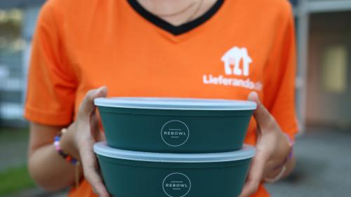 Lieferando testet Essenslieferungen in Pfandschüsseln
