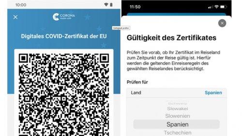Corona-Warn-App prüft Gültigkeit von Zertifikaten