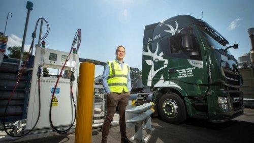 Glenfiddich betreibt Lkw mit Biogas aus Whisky-Rückständen