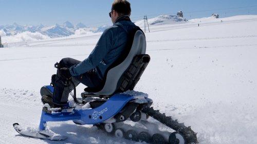 E-Bike als Snowmobil mit Raupenantrieb