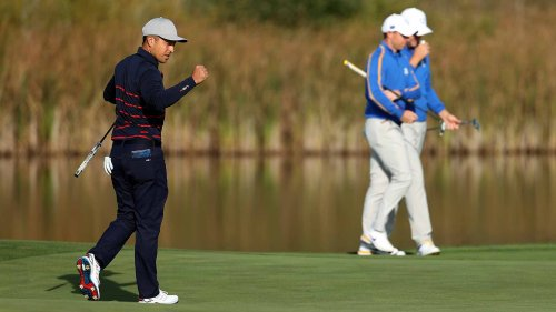 U.S. storms out to Ryder Cup lead after Friday morning matches