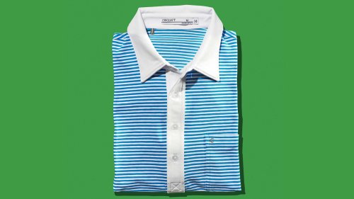 This Criquet golf polo pairs a timeless look with modern performance