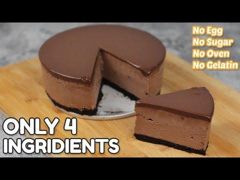 4 Ingredients Chocolate Cheesecake