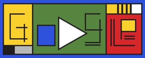 100 Jahre Bauhaus: So sähen das Google-Logo und das Android-Logo im Bauhaus-Stil aus