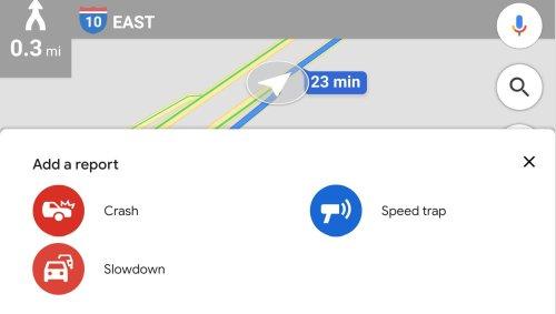 Google Maps: Neue Meldung von Verkehrsstaus ergänzt nun die Blitzerwarnungen und Unfallmeldungen