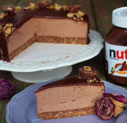 Nutella Mousse Pecan Pie Recipe