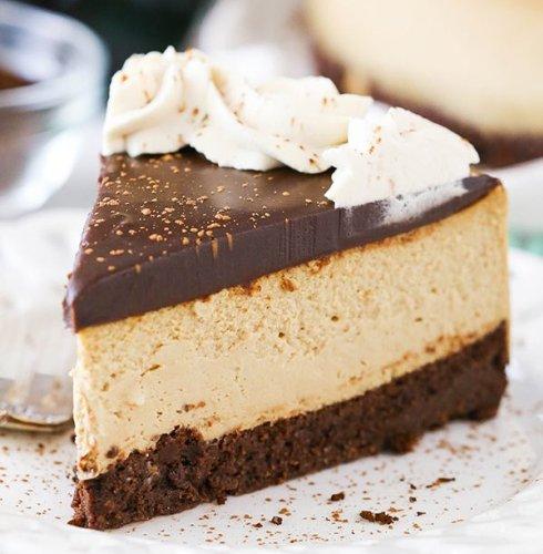 Kahlúa Coffee Brownie Cheesecake
