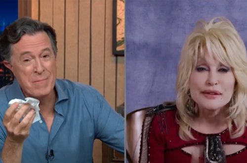 Report: Stephen Colbert's Obsession With Dolly Parton Leaves His Wife Furious