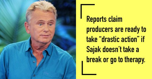 'Wheel Of Fortune' Producers Worried Pat Sajak Is 'Out Of Control,' 'Losing His Marbles'?