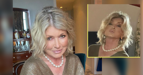 Martha Stewart Posts Another Thirst Trap Pic, Denies Drinking All The Liquor On The Bar