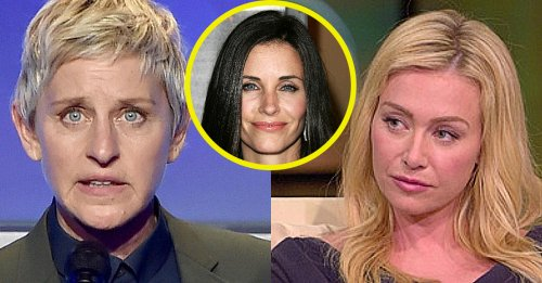 Ellen Gets Kicked Out By Wife Portia, Moves In With Courtney Cox?