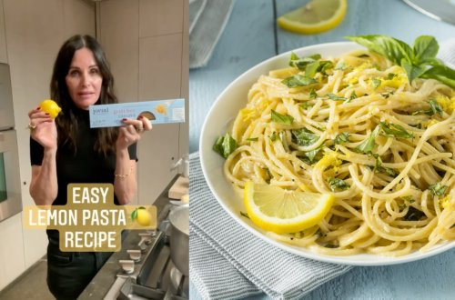 Courteney Cox's Easy Lemon Pasta Only Requires 4 Ingredients