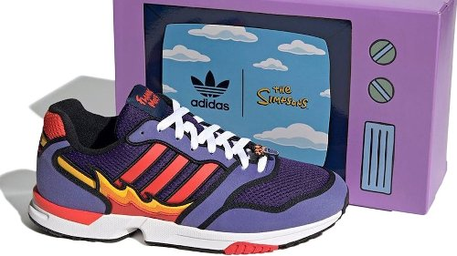 "Simpsons x Adidas ZX 1000 ""Flaming Moe"" Sneaker"