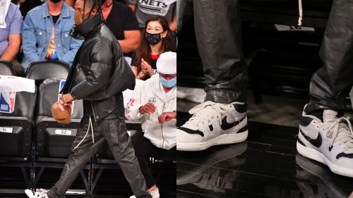 Travis Scott, how the hell did you get those Nikes?