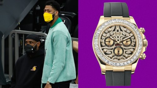 Anthony Davis's Watch Has the Eye of the Tiger