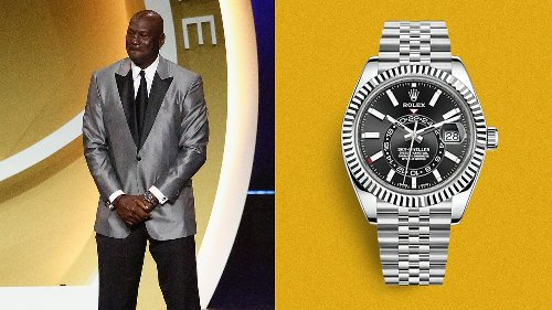 Hall of Famer Michael Jordan Wears a Hall-of-Fame Watch to the Hall of Fame