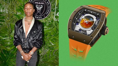 Pharrell Wears a Million-Dollar Watch Made by None Other Than...Pharrell