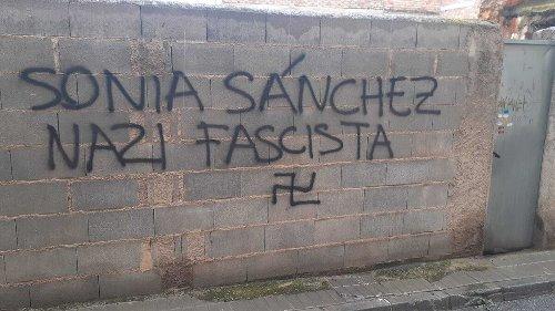"""Vox Granada denuncia pintadas en Las Gabias con acusaciones a su portavoz de """"nazi"""" y """"fascista"""""""
