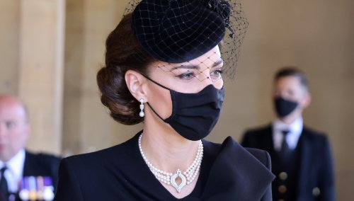 The Special Significance Of The Jewellery Kate Middleton Wore To Prince Philip's Funeral