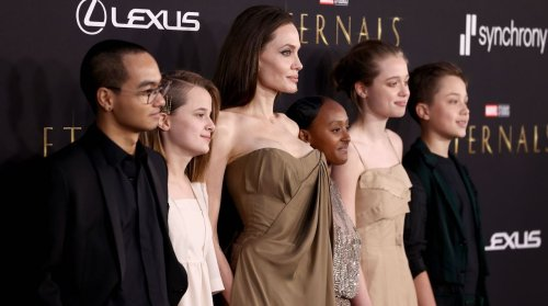 Five Of Angelina Jolie's Children Just Took To The Red Carpet Wearing Their Mum's Wardrobe