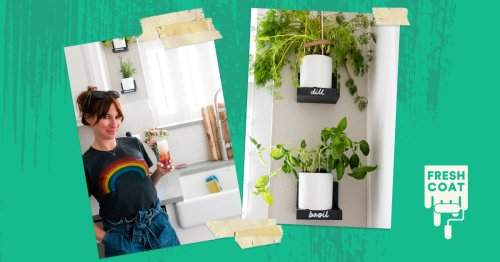How to Create a Hanging Herb Wall in Your Kitchen