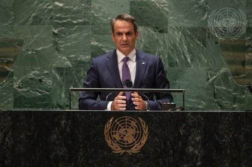 Mitsotakis Says Turkey is Ignoring UN Resolutions on Cyprus in Speech