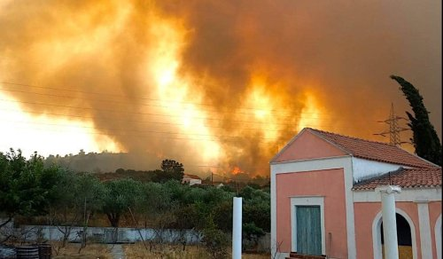 Massive Fire Leaves Much of Rhodes Without Power