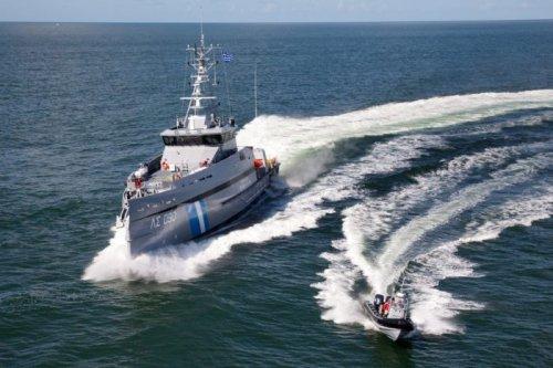 Greek Coast Guard Boat Harassed by Turkish Vessel
