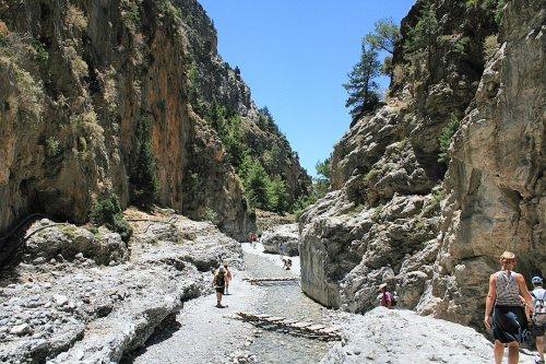 Hiking Spectacular Samaria Gorge on the Island of Crete