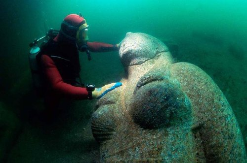 Underwater City of Heracleion, Egypt Gives Up its Treasures