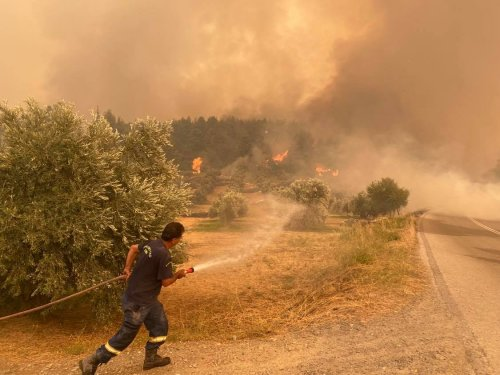 Greece on Fire: Wildfires Ravage Country in Multiple Fronts