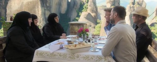 A Holy Lunch with Greek Nuns at Meteora for Gordon Ramsay