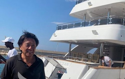 Jackie Chan Soaks Up the Sun on Vacation in Cyprus