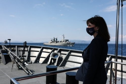 President Sakallaropoulou Inspects Navy as Greece Mulls Proposals for Frigates