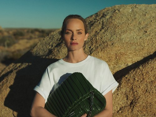 After Ditching Animal Skins & Fur, Fashion House Karl Lagerfeld Unveils Cactus Leather Bag With Model Amber Valletta