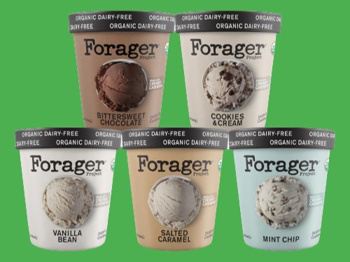 Forager Project Unveils New Organic Vegan Ice Cream Line Made From Cashew Milk