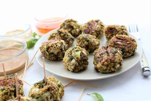 Zucchini Balls are perfect for a snack or appetizer. Vegan, gf, dairy free.