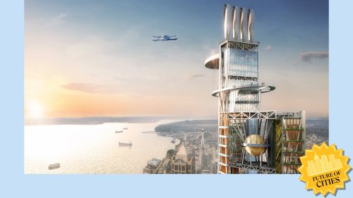A more sustainable skyscraper? Imagine a 'spaceship designed by Jenga.'