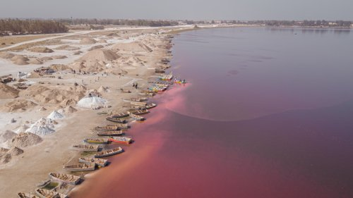 The Pink Lake Of Senegal That's Saltier Than The Dead Sea