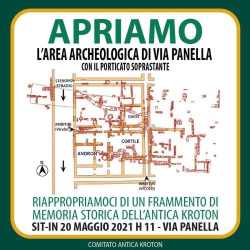 Sit-in del 20 maggio presso l'area archeologica di Via Panella (sotterraneo BPC)
