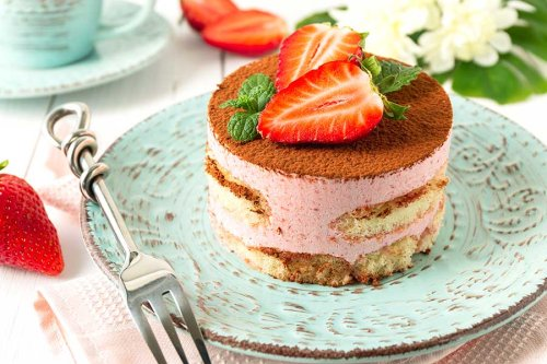 Erdbeer Tiramisu - Erdbeertorte ohne backen