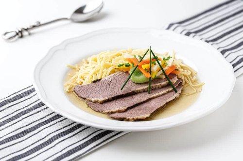 Das Tellerfleisch erhebt eine einfache Suppe zum Gala-Dinner