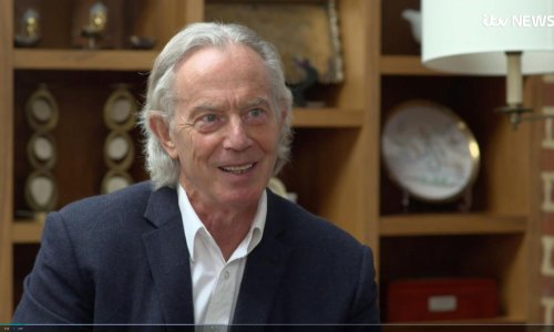 Tony Blair's hair: 'it's not been this long since I was in a band'