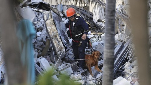 Miami building collapse: one dead as rescue crews say 99 unaccounted for