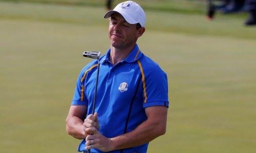 Struggling McIlroy dropped after USA open historic one-day lead at Ryder Cup