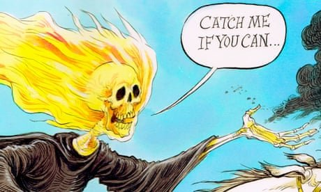 The climate change horseman of the apocalypse rides out – cartoon