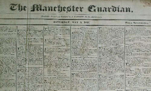 Manchester Guardian's support for 'enemy aliens' of second world war