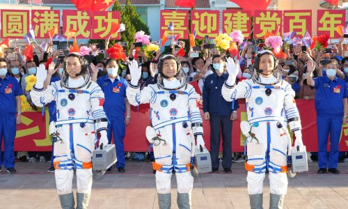 Chinese astronauts reach new space station for three-month mission
