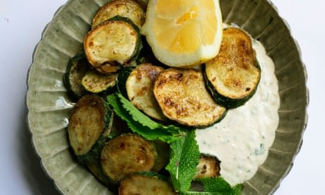 Nigel Slater's recipe for courgettes with tahini