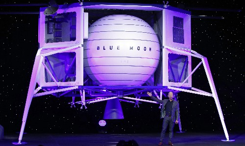 Jeff Bezos: Blue Origin space company will take first woman to the moon